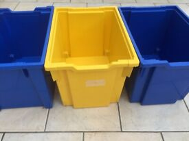 Gratnells Deep tray F3 x3 yellow/blue 225mmx312mmx427mm good used condition