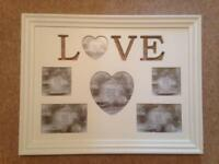 Large Painted 'Love' Photo Frame