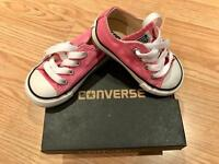 BRAND NEW converse pink shoes size 24