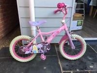 "Pink bike 14"" wheels"