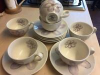 Whittard of Chelsea 6x purple/lilac tea coffee cups and saucers *reduced quick sale moving house*