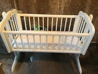 Beautiful immaculate baby rocking cradle