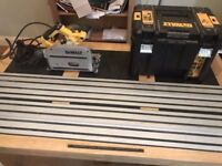 Dewalt Plunge Saw 110v with Two tracks 2.6m and 1.5m