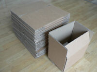 28 Cardboard Boxes. Double-walled. Flat-packed.