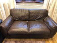 2 seater sofa and 3 seater sofa fox leather