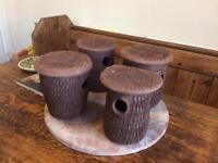 Clay bird nesting boxes