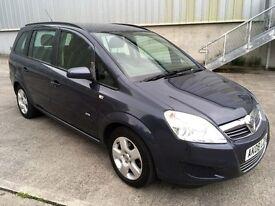 2008 (08) Vauxhall Zafira 1.6 16v Exclusiv 7 Seater ***LONG MOT***Great Driver***