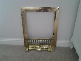 Traditional brass fire fret and trim