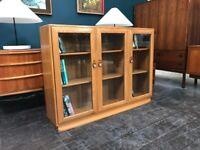 Windsor Floor Standing Bookcase / Sideboard in Elm by Ercol. Retro Vintage Mid Century
