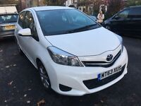 2013 Toyota Yaris TR VVT-i 1329 White 5 Doors Only 11k Miles Full Dealer Serv Certificate fiesta