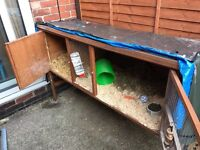 6ft Rabbit Hutch and Cover: Used in Good Condition