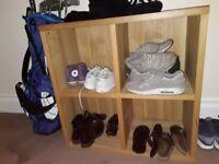 Cupboard - Shoe Organiser: Square, Solid Wood