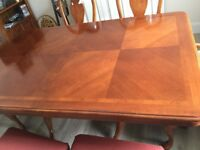 CherrybWood dining table and chairs