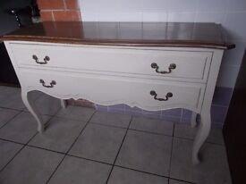 French Console Table / SideBoard Kidney Shape Lip