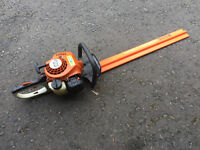 stihl petrol hedge trimmer - domestic use only - owner now in flat -