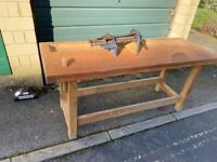 Carpenters woodwork bench with vice (professional)