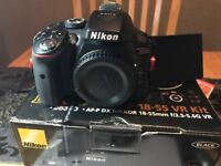 nikon d5300 body only. with 2 nikon battery