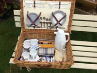 Vintage wicker picnic hamper with contents - get ready for the Bank Holiday and summer!