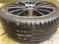 "Vauxhall astra corsa tigra vectra Volvo Mazda 323 mx3 mx5 Peugeot Matt Black Alloy wheels 18"" inch"