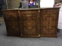 Walnut wood sideboard