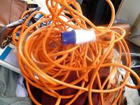 Electric Hook Up Extension Wire For Camping/Caravaning