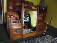 antique victorian hall mirror restoration