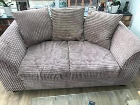Jumbo cord fabric sofa : caramel 2 seater