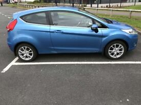 FORD FIESTA ZETEC 1.25 MAY 2009/09 BLUE *LOW MILES*. not polo, golf, clio etc.