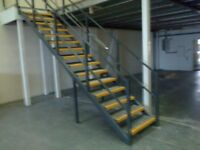 MEZZANINE FLOOR 17M X 10M WITH STAIRS DISMANTLED. REDUCED( STORAGE , PALLET RACKING )