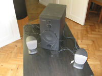 Four sets of audio speakers