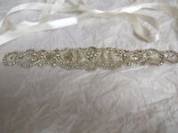 Crystal and Beaded Bridal Belt