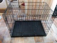 A Very Large Metal Dog Cage in good condition