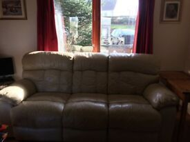 Leather Recliner 3seater