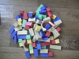 Childrens Wooden Building Blocks