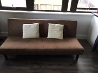 Brown sofabed - like new - (RRP £150)