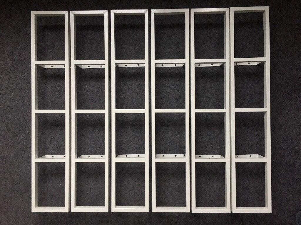 Ikea lerberg  Ikea Lerberg White Metal DVD Shelves x6 Used £28 price lowered ...
