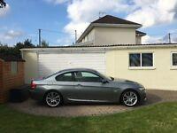 "BMW E92 320d MSport Coupe, 2008(58), 2 Owners, Dakota Black Leather, 18"" Alloys, Auto Stop/Start"