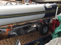 INFLATABLE ZODIAC CADET 340 SIB with NEW TRAILER