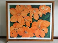 Large framed print by W Boecker (1.4m long, 1.2m high)