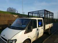 Transit tipper with full cage for sale