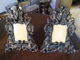 Victorian Cast Iron Photograph Frames
