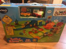Vtech toot toot train station track trains brand new and boxed collection Romiley