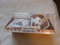 Fine Bone China Mug & Coaster to celebrate Baby