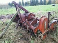 Tractor rotovator