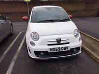 Abarth 500 (59) white. Excellent condition. Low mileage. 165bhp. Upgrades