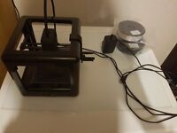 M3D Micro 3D printer for sale w/ 2 reels of PLA filament (black & white)