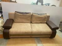 ✅✅🚚🚚Beautiful Soft Fabric Sofa Bed With Storage Underneath For Sale Free DeliveryRadius Apply ✅✅✅