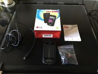 LG-P500 Android Mobile Phone And Car Cradle.
