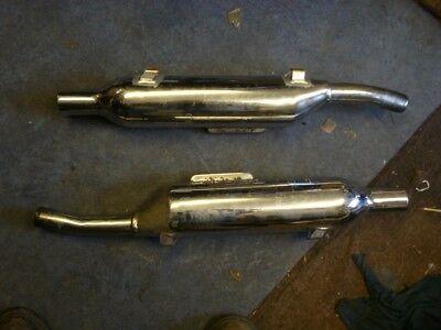 Triumph T 100 T100 Scrambler Exhaust silencers 22063311 & 312 Chrome no dents