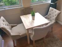 Flynn chairs and dining table set.